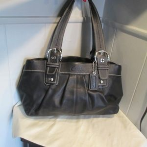 Coach Black Leather Soho Pleated Handbag 13732